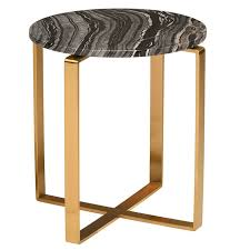 Marble Side Table Rosa Modern Marble Side Table Black Brushed Gold