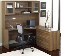 Office Desk With Hutch L Shaped Home Office Modern Home Office Idea With Brown L Shaped Corner