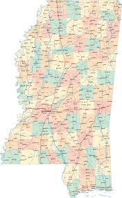 Usa Highway Map Map Of Mississippi Cities