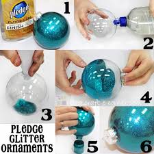 easy 6 step pledge glitter ornaments craft e corner