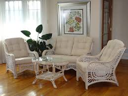 Wicker Living Room Chairs by Amazon Com Malibu Design Natural Rattan Handmade Wicker White