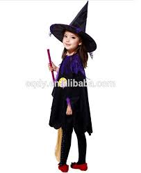 Girls Witch Halloween Costume Girls Witch Cloak Halloween Party Costume Ball Witch Dress