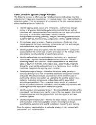 8 fare collection structure initiatives elements needed to