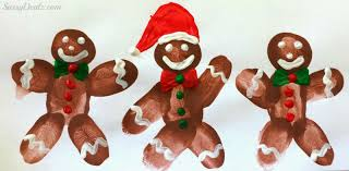 diy fingerprint gingerbread man craft for kids crafty morning