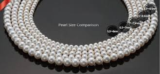 pearl size necklace images White freshwater pearl necklace 7 8 mm aaa from pearl accessory jpg