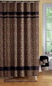 Bath Sets With Shower Curtains Leopard Print Shower Curtain Foter