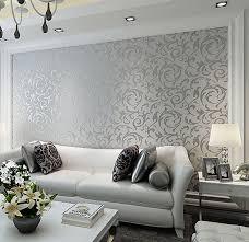 wholesale europe luxury leaf wallpaper 3d beige silver grey gold