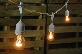 edison string lights edison drop string lights 48 foot white wire warm white edison light