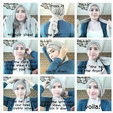 simple hijab styles tutorial segi empat azis muhammad ihsan