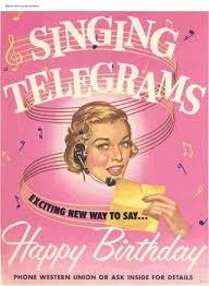 cheap singing telegrams western union resurrects singing telegram
