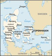 map of germany cities list of cities in denmark simple the free