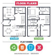 house floor plan symbols architecture plan furniture house floor plan stock vector hd