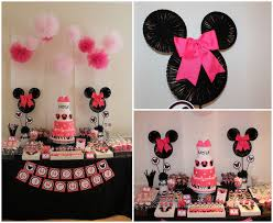 Minnie mouse first birthday decorations