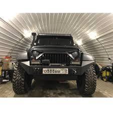 matte black jeep 1 set j189 abs plastic front matte black gladiator vader grille