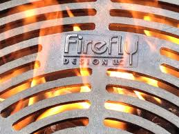 exterior custom outdoor fire pit grate design ideas with stone