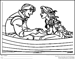 tangled coloring pages flynn ginormasource kids