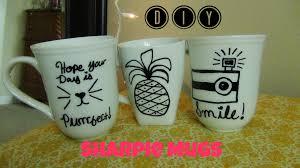 diy sharpie mugs diy idea youtube