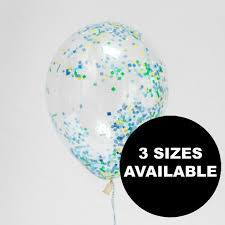 confetti filled balloons clear balloons big confetti balloons