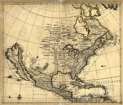 Usps First Class Shipping Time Map 1685 Historic Map Of Early North America 24x28 Ebay