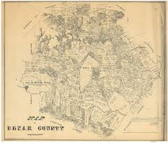 Old Texas Map Bexar County Texas 1879 Old Wall Map Reprint With Land