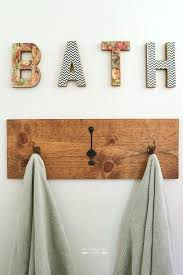 Bathroom Towel Hooks Ideas Wooden Towel Hooks For Bathrooms Easywash Club