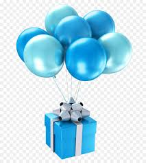 balloons gift balloon blue happy birthday to you gift blue gift balloon png