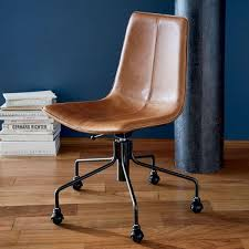 Real Leather Office Chair Slope Leather Office Chair West Elm Au