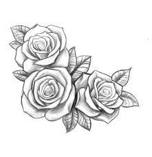 resultado de imagen para three black and grey roses drawing