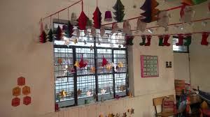 christmas decoration in class lkg e youtube