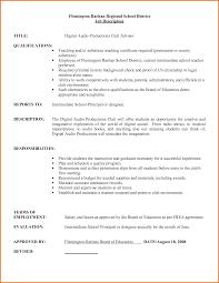 Teacher Job Resume by Job Substitute Teacher Resume Job Description