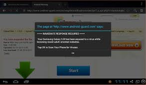 android popup cyber bug android virus warning popup