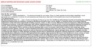 Sample Resume For Shipping And Receiving by Sample Resume For Shipping And Receiving Clerk