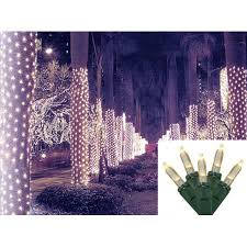 2 x 8 warm white led net style tree trunk wrap lights