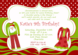 Sample Invitation Card For Christmas Party Wonderful Christmas Birthday Party Invitations Theruntime Com