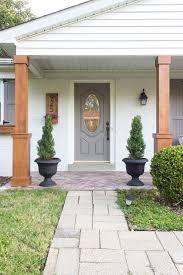 craftsman style porch craftsman bungalow front porch regarding columns plan 16