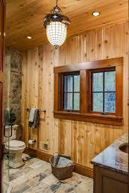 window trim ideas bathroom rustic with slate flooring pendant
