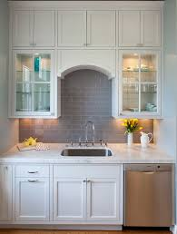 Subway Tile Backsplash Design Ideas - Grey subway tile backsplash