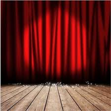 Studio Curtain Background Vinyl Red Curtain Stage Background Prop Plain 5x7ft Studio
