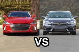 honda civic or hyundai elantra 2017 hyundai elantra vs 2016 honda civic sedan design