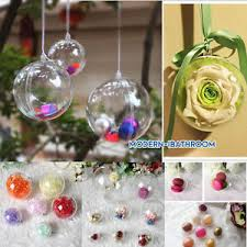 clear plastic tree open baubles spheres ornaments