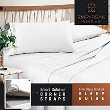 best luxury bed sheets amazon com premium queen sheets set white hotel luxury 4 piece