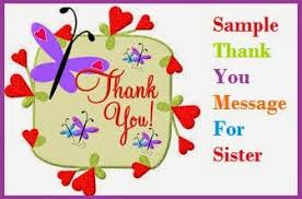 thank you messages sister brother