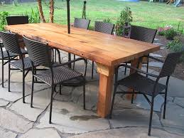 plain decoration outdoor wooden tables shining design patio stunning