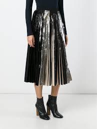 designer fashion sale proenza schouler metallic pleated skirt clothing proenza