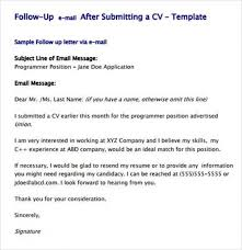 Examples Of Follow Up Letters After Sending Resume by Follow Up Email After Resume Sent U2013 Resume Examples