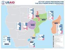 africa map malawi active usaid programs for the southern africa response last