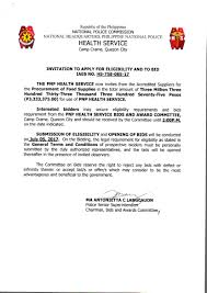 to bid invitation to bid no hs 758 085 17 procurement of food supplies