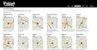 Crime Map Oakland Stamen Design Crimespotting