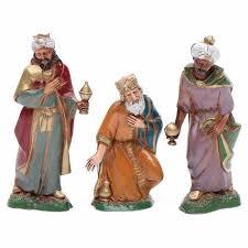nativity figurines 3 wise 10cm moranduzzo in painted