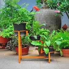 diy horizontal flower pot stand mybageecha